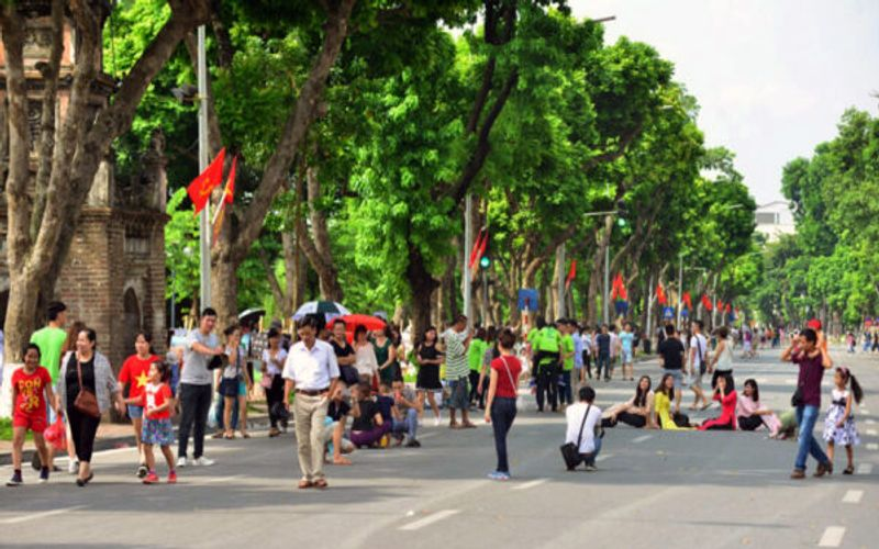 Hanoi's weekend pedestrian streets allowed to reopen from September 18