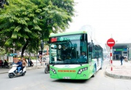 Buses contribute to environmental protection and tourism development in Hanoi