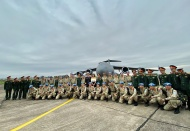 Australian aircraft flies Vietnam's second rotation of Military Field Hospital to South Sudan