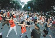 Public dance rocks up Hanoi pedestrian zone every weekend