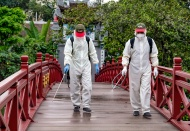 Hanoi disinfects tourist attractions