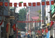 Hanoi streets turn red to mark national holidays