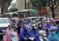 Hanoi streets jammed after morning rain