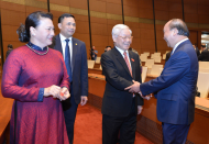 Vietnam leaders attend opening of parliament's month-long session