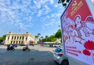 Hanoi colourful to welcome 13th National Party Congress