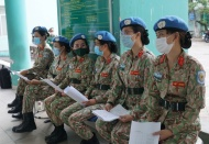 Vietnamese peacekeepers injected with Covid-19 vaccine
