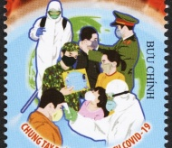 Vietnam launches postage stamps to promote combat against Covid-19