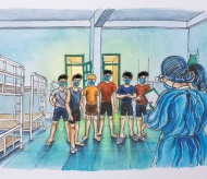 Paintings about life in quarantine area inspire Vietnamese people