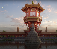 Visitors can visit One Pillar Pagoda in Hanoi via virtual reality technology