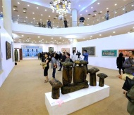 Exhibition resumes 5-year creation of Vietnamese fine arts