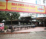 Bia hoi venues are almost empty in the city