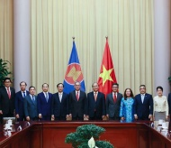 Vietnam President vows to support ASEAN Community Vision 2025