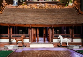 Unique miniature of communal house in Vietnam