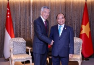Prime ministers of Vietnam and Singapore talk to keep trade flowing