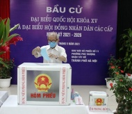 Hanoi voters choose candidates for the general election