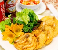 West Lake Shrimp Cake - great dine out option in Hanoi