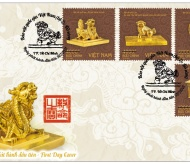 National treasures on stamps