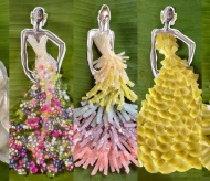 Designing cocktail and party dresses from Vietnamese specialties
