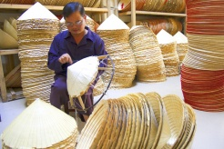 Unique craft of making conical hats in Chuong village