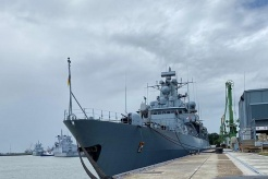 German warship sails for South China Sea after two decades
