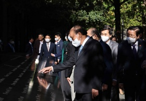 Vietnamese President pays tribute to 9/11 victims