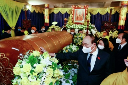 State President pays tribute to Most Venerable Thich Pho Tue